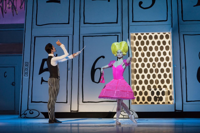 Scènefoto uit het ballet Coppelia