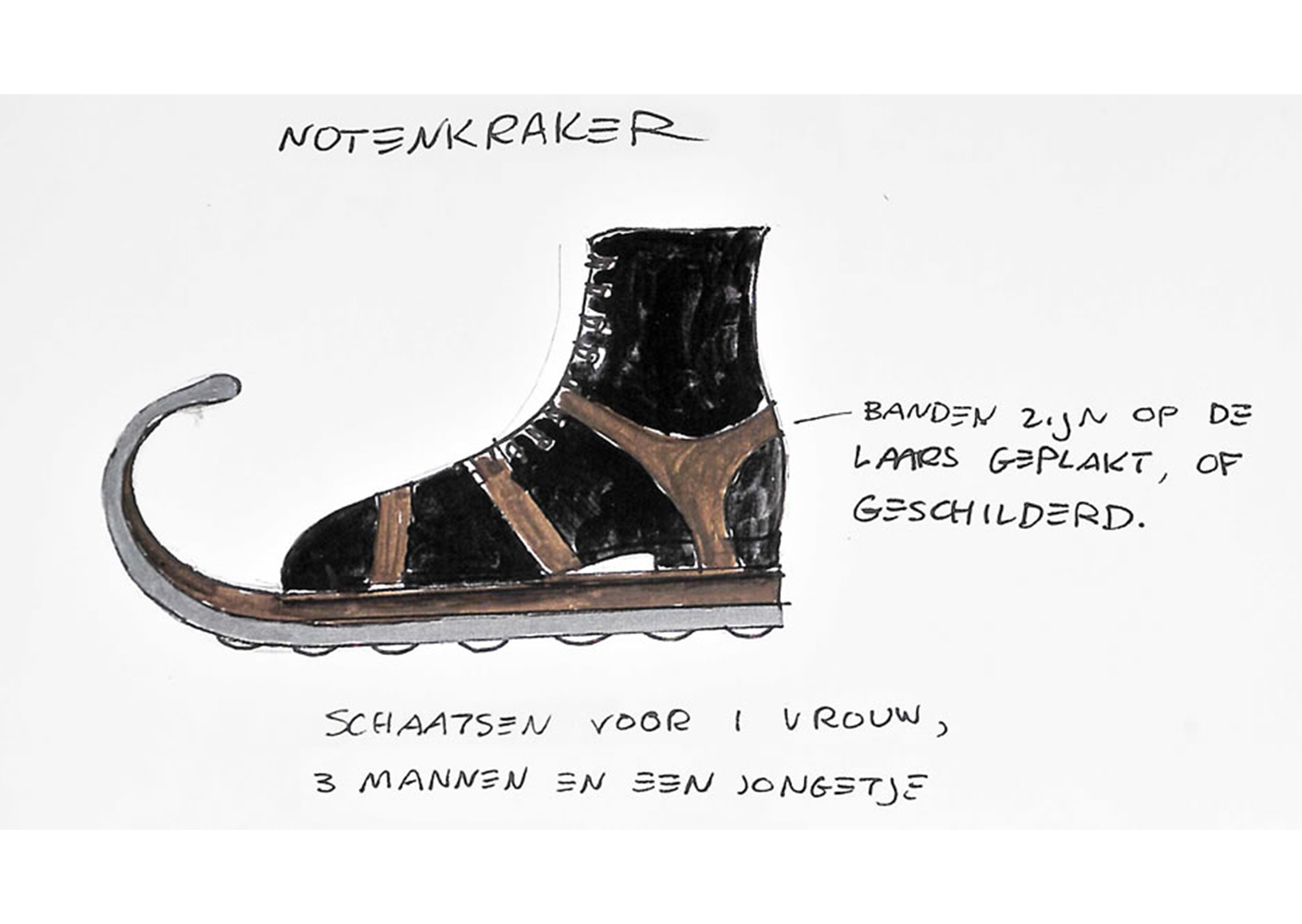 Notenkraker schaats