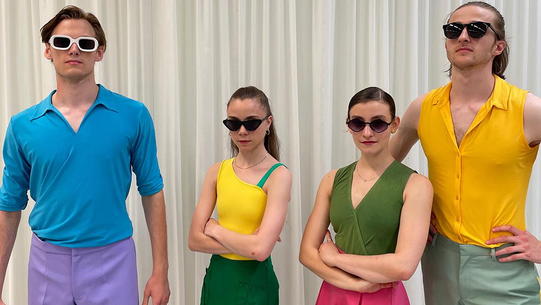 Leo Hepler, samen metBela Erlandson, Emma Mardeganen Mila Nicolussi Caviglia