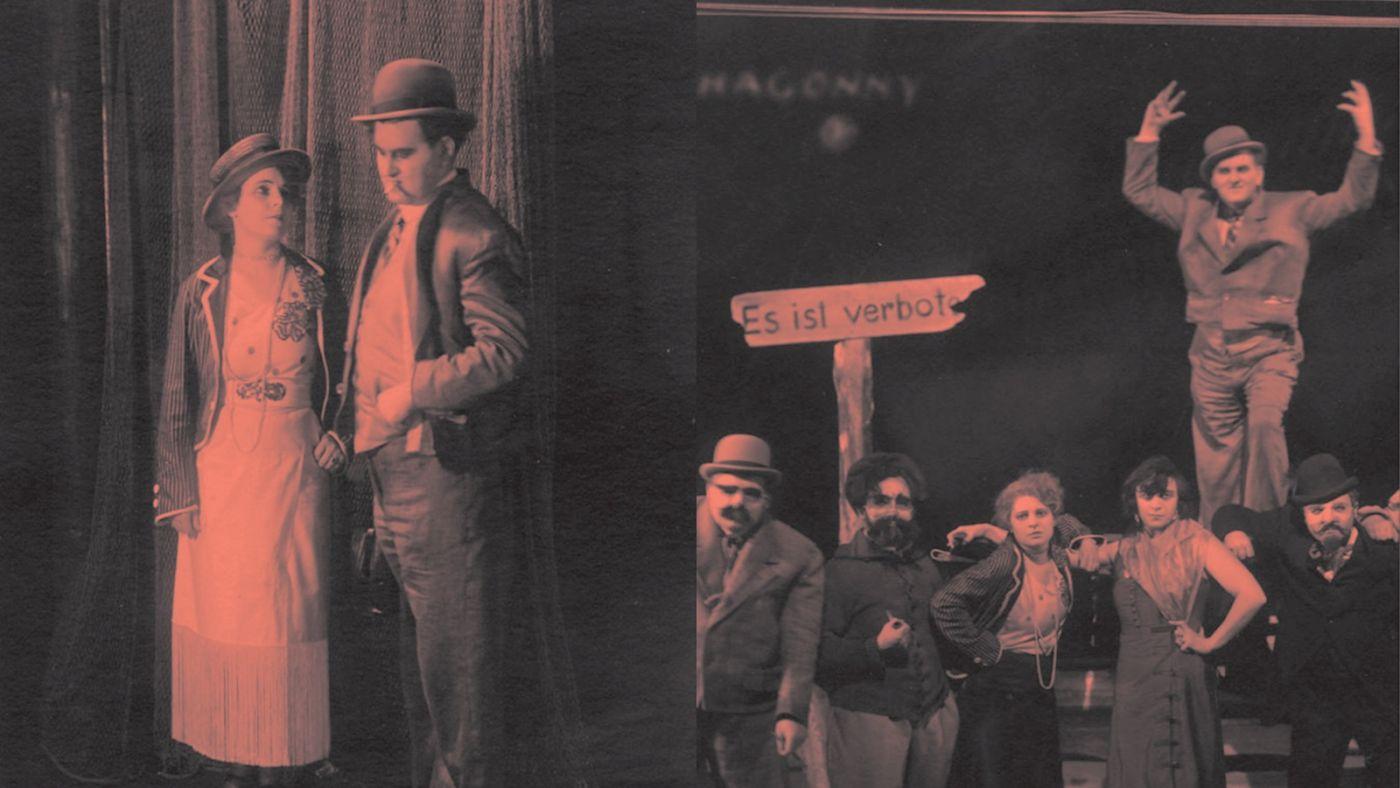 Scenefotos van de eerste productie van Mahagonny (1930