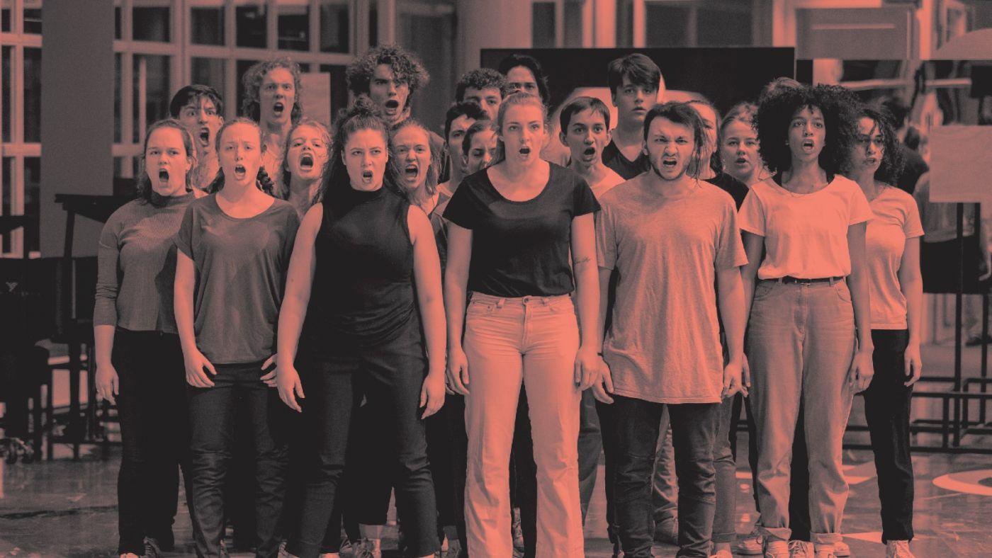Studenten van de MBO Theaterschool in WILD 2.