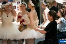 Ballerina's achter de schermen