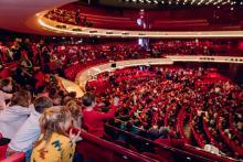Children in the auditorium of Dutch National Opera & Ballet