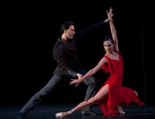 Scènefoto uit het ballet Carmen
