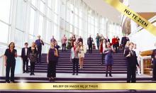 Chorus on staircase